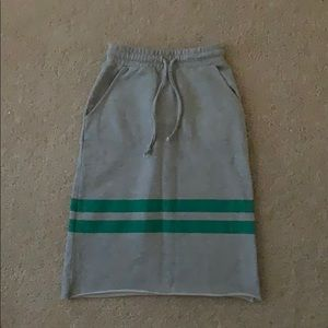 ASOS High waisted skirt drawstring midi skirt